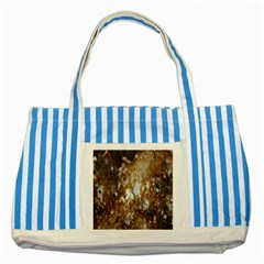 Rusty Texture Pattern Daniel Striped Blue Tote Bag
