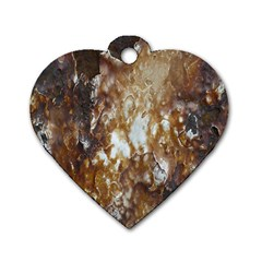Rusty Texture Pattern Daniel Dog Tag Heart (two Sides)