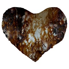Rusty Texture Pattern Daniel Large 19  Premium Heart Shape Cushions
