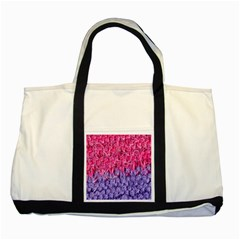 Wool Knitting Stitches Thread Yarn Two Tone Tote Bag