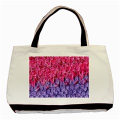 Wool Knitting Stitches Thread Yarn Basic Tote Bag (two Sides)