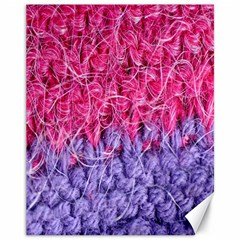 Wool Knitting Stitches Thread Yarn Canvas 11  X 14