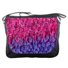 Wool Knitting Stitches Thread Yarn Messenger Bags