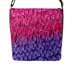 Wool Knitting Stitches Thread Yarn Flap Messenger Bag (l)