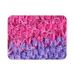 Wool Knitting Stitches Thread Yarn Double Sided Flano Blanket (mini)