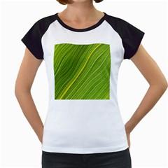Leaf Plant Nature Pattern Women s Cap Sleeve T