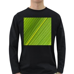 Leaf Plant Nature Pattern Long Sleeve Dark T Shirts