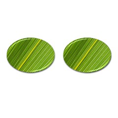 Leaf Plant Nature Pattern Cufflinks (oval)