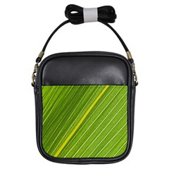 Leaf Plant Nature Pattern Girls Sling Bags