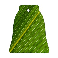 Leaf Plant Nature Pattern Bell Ornament (two Sides)