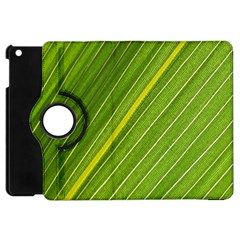 Leaf Plant Nature Pattern Apple Ipad Mini Flip 360 Case