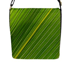 Leaf Plant Nature Pattern Flap Messenger Bag (l)  by Nexatart