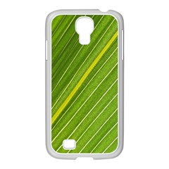 Leaf Plant Nature Pattern Samsung Galaxy S4 I9500/ I9505 Case (white)