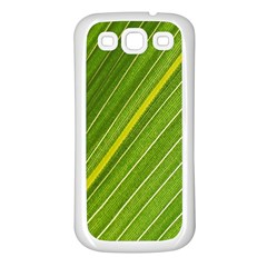 Leaf Plant Nature Pattern Samsung Galaxy S3 Back Case (white)