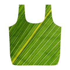 Leaf Plant Nature Pattern Full Print Recycle Bags (l)
