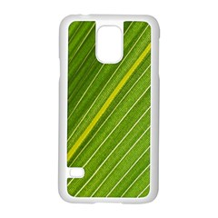 Leaf Plant Nature Pattern Samsung Galaxy S5 Case (white)