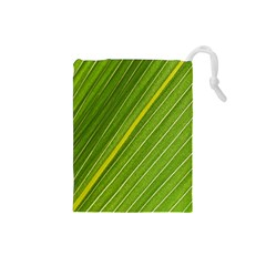 Leaf Plant Nature Pattern Drawstring Pouches (small)