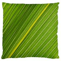 Leaf Plant Nature Pattern Large Flano Cushion Case (one Side)
