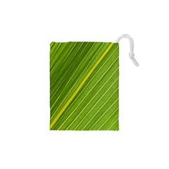 Leaf Plant Nature Pattern Drawstring Pouches (xs)