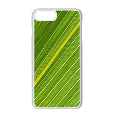 Leaf Plant Nature Pattern Apple Iphone 7 Plus Seamless Case (white)