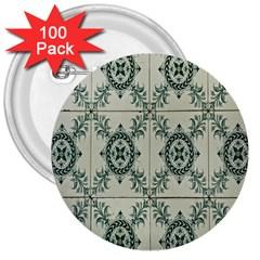 Jugendstil 3  Buttons (100 Pack)