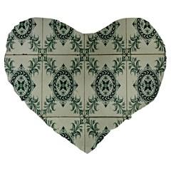 Jugendstil Large 19  Premium Flano Heart Shape Cushions