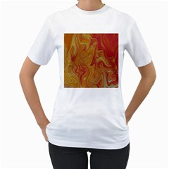 Texture Pattern Abstract Art Women s T Shirt (white) (two Sided)