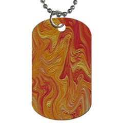 Texture Pattern Abstract Art Dog Tag (one Side)