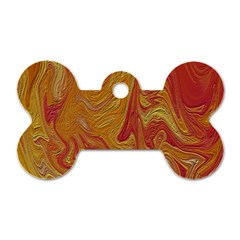 Texture Pattern Abstract Art Dog Tag Bone (two Sides)