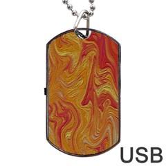 Texture Pattern Abstract Art Dog Tag Usb Flash (one Side)