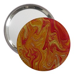 Texture Pattern Abstract Art 3  Handbag Mirrors