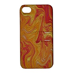 Texture Pattern Abstract Art Apple Iphone 4/4s Hardshell Case With Stand