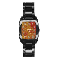 Texture Pattern Abstract Art Stainless Steel Barrel Watch