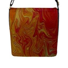 Texture Pattern Abstract Art Flap Messenger Bag (l)