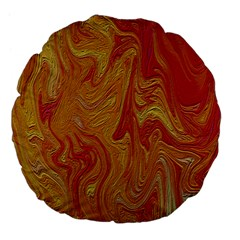 Texture Pattern Abstract Art Large 18  Premium Flano Round Cushions