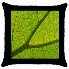 Green Leaf Plant Nature Structure Throw Pillow Case (black)