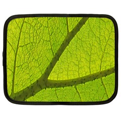 Green Leaf Plant Nature Structure Netbook Case (large)