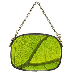 Green Leaf Plant Nature Structure Chain Purses (one Side)  by Nexatart