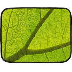 Green Leaf Plant Nature Structure Double Sided Fleece Blanket (mini)