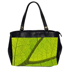 Green Leaf Plant Nature Structure Office Handbags (2 Sides)