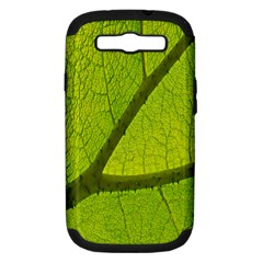 Green Leaf Plant Nature Structure Samsung Galaxy S Iii Hardshell Case (pc+silicone) by Nexatart