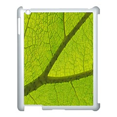 Green Leaf Plant Nature Structure Apple Ipad 3/4 Case (white)