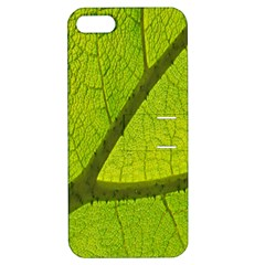 Green Leaf Plant Nature Structure Apple Iphone 5 Hardshell Case With Stand