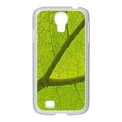 Green Leaf Plant Nature Structure Samsung Galaxy S4 I9500/ I9505 Case (white)