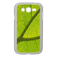 Green Leaf Plant Nature Structure Samsung Galaxy Grand Duos I9082 Case (white)