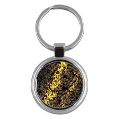 The Background Wallpaper Gold Key Chains (round)