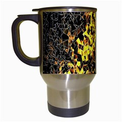 The Background Wallpaper Gold Travel Mugs (white)
