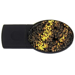 The Background Wallpaper Gold Usb Flash Drive Oval (4 Gb)