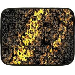 The Background Wallpaper Gold Fleece Blanket (mini)