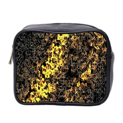 The Background Wallpaper Gold Mini Toiletries Bag 2 Side